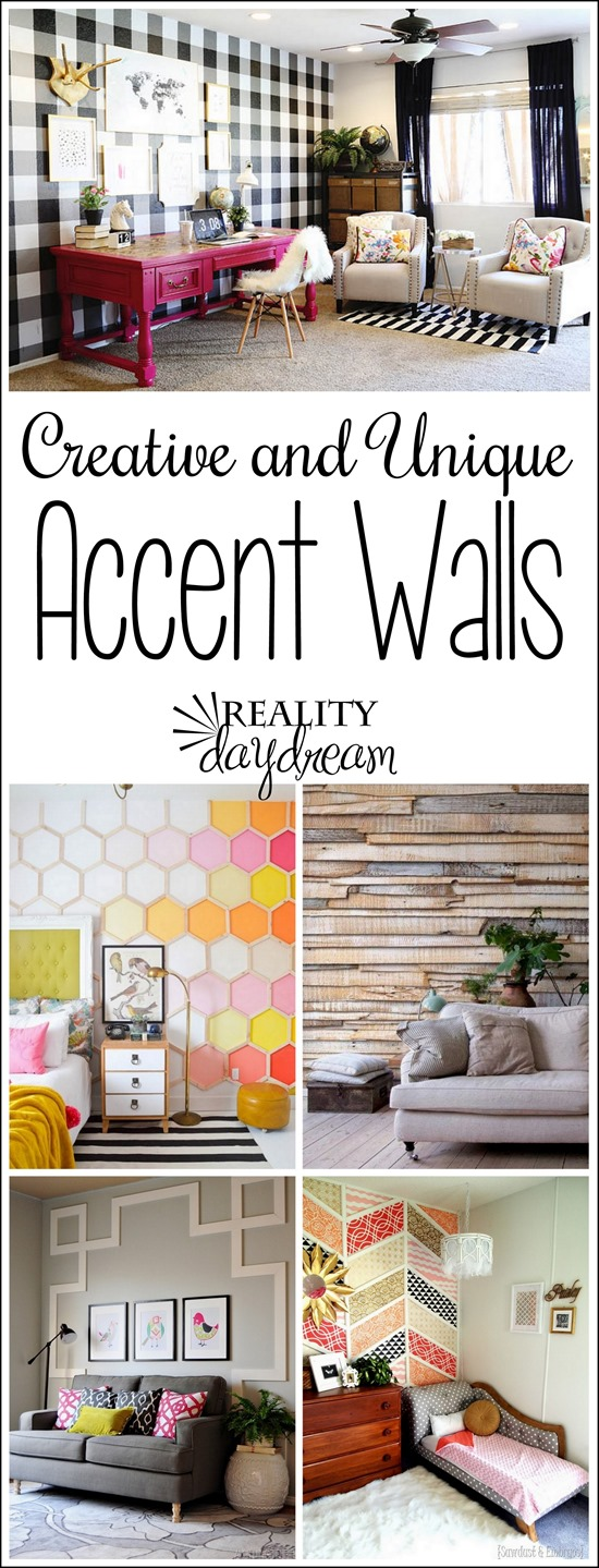 14 BRILLIANT and Unique Accent Walls to being texture and interest to your home {Reality Daydream}