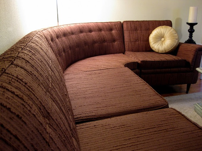 Authentic 50's vintage sectional... about to be reuholstered! {Reality Daydream}