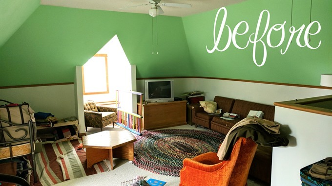 BEFORE attic pic {reality daydream}