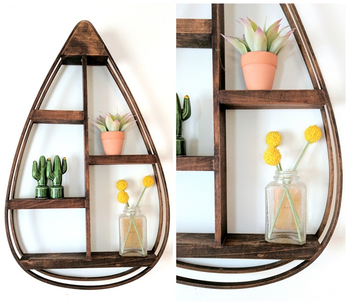 Bent Wood Teardrop-Shaped Decorative Shelf Tutorial... a fun DIY using a steamer to bend the wood! {Reality Daydream}