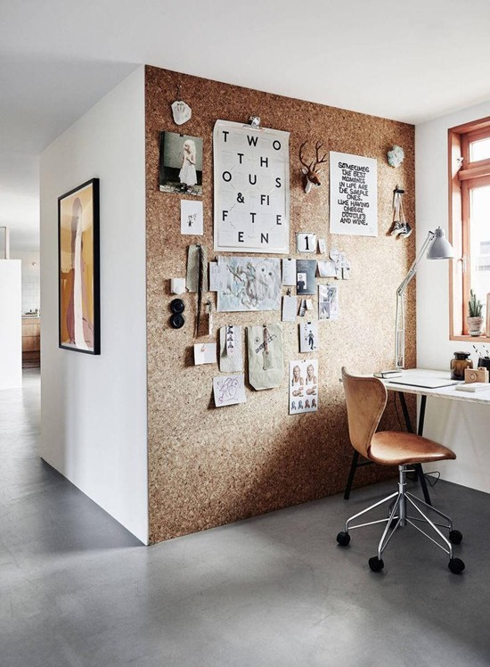 Cork Accent Wall By Coco Lapine Designs