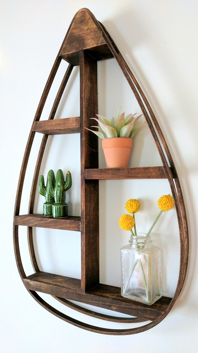 DIY Teardrop-Shaped Bentwood Shelf Tutorial by Reality Daydream}