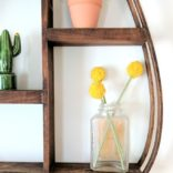 Teardrop-shaped Bentwood Shelf