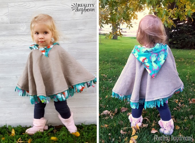 Make this darling carseat poncho for your little boy or girl. It's fleece-lined and has a hood! Can be made to be reversible too {Reality Daydream}