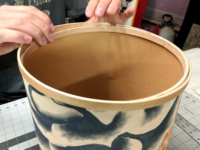 Making wood veneer into a lampshade {Reality Daydream}