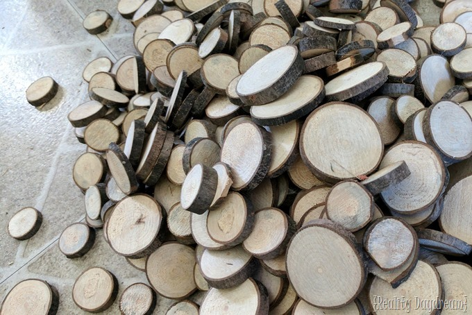 Small wood slices from fallen branches cut with a band saw {Reality Daydream}