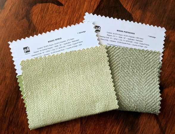 Trying to choose a durable upholstery fabric for your sectional couch {Reality Daydream}