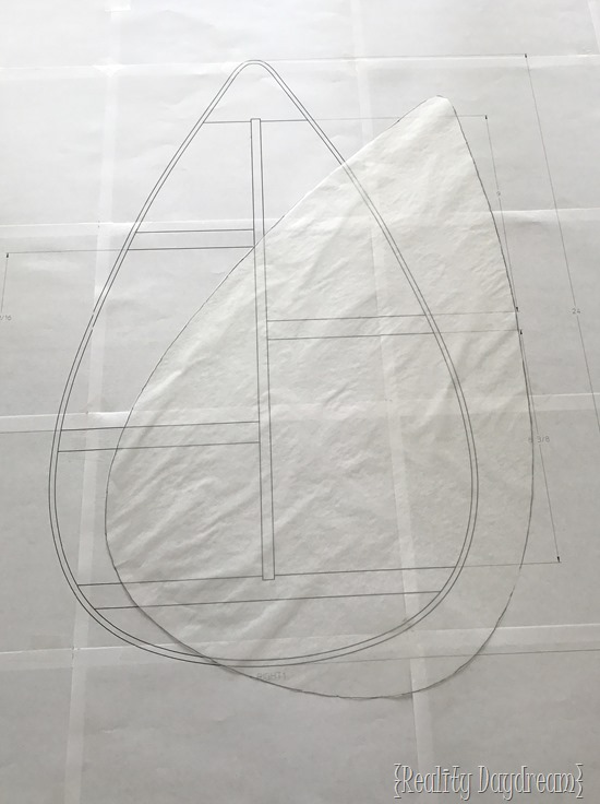 Using Tracing paper to transfer plans{Reality Daydream}