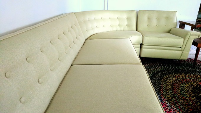 Vintage sectional gets a new upholstery job! {Reality Daydream}