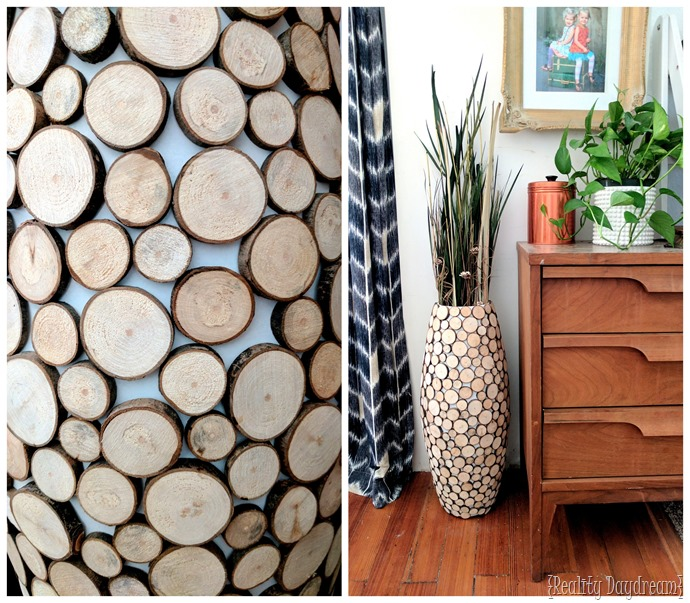 Wood Slice Floor Vase DIY Tutorial {Reality Daydream}