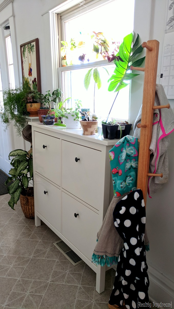HEMNES Shoe Cabinet organization for mudroom or entryway! {Reality Daydream}
