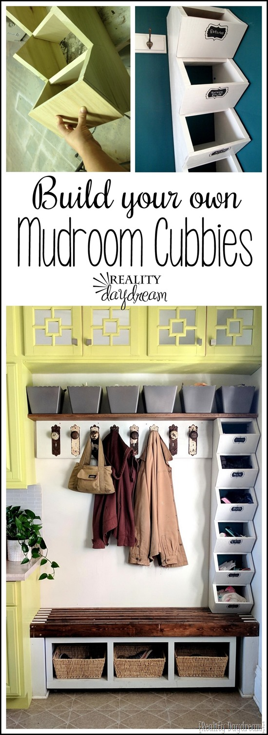 Tutorial for building these simple mudroom cubbies to store hats and mittens.