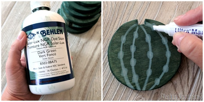 Behlen and Mohawk for these cactus coasters {Reality Daydream}