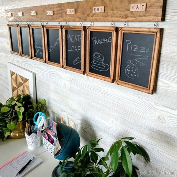 EASY Meal Planning Menu Board - perfect for woodworking beginners! {Reality Daydream}