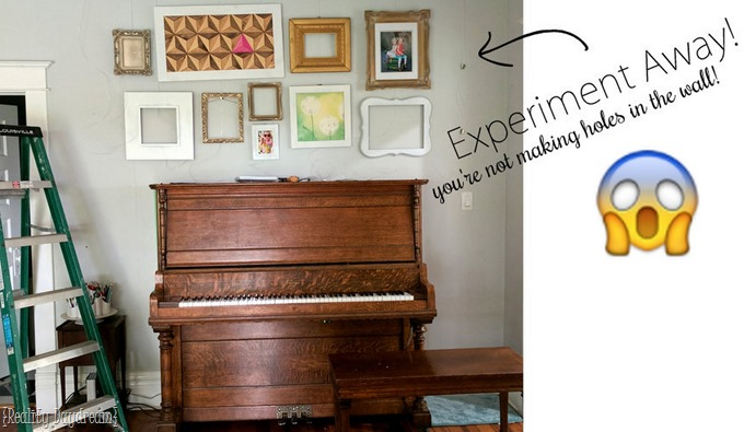 Gallery wall tips... with NO HOLES IN THE WALLS! ;) {Reality Daydream}