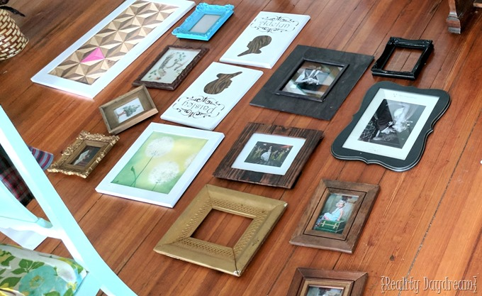 Gather up wall decor for styling your gallery wall ideas! {Reality Daydream}