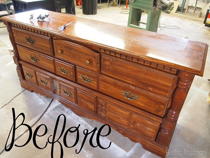 How to fill decorative carving in furniture so it has a smooth surface! {Reality Daydream}
