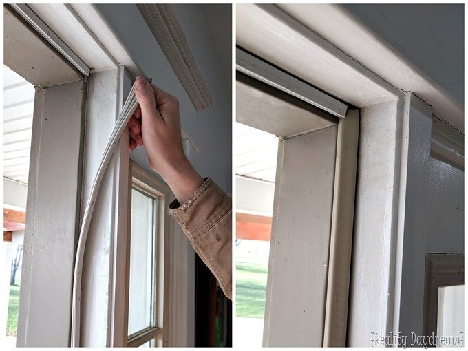 Replace weather stripping to winterize your house {Reality Daydream}