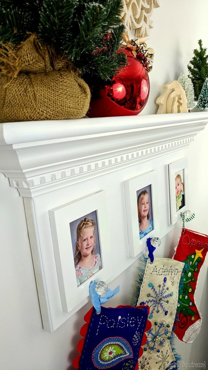 Stocking hanger when you don't have a fireplace mantel! {Reality Daydream}