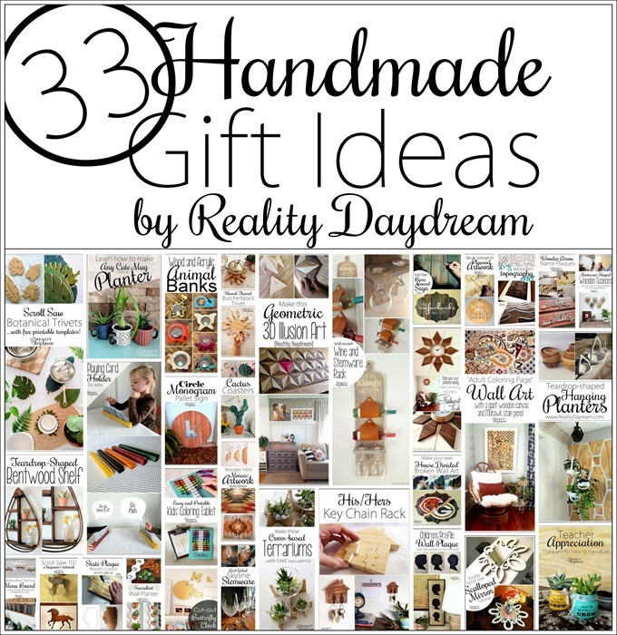 Tons of DIY Homemade Gift Ideas for the Holidays or Birthdays #Handmade {Reality Daydream}