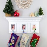 Hanging Stockings without a Fireplace Mantel