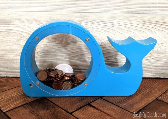 Wooden animal banks with acrylic sides {Reality Daydream} #whale (2)