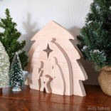 Wooden Nativity Set using a Scroll Saw!
