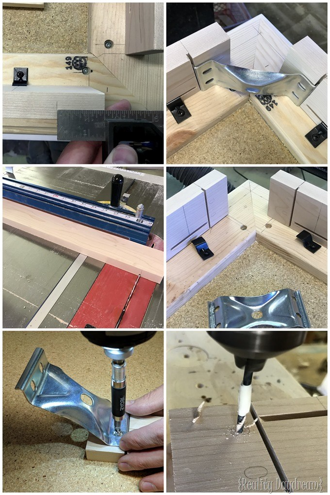 How to install Rockler Table Steel Corner Brace {Reality Daydream}