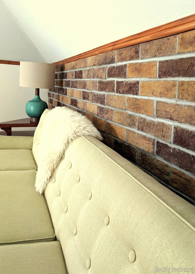 How to install brick veneer below the chair rail {Reality Daydream}