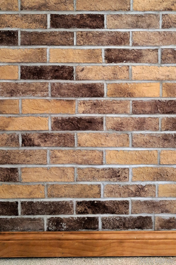 How to install thin brick with mortar thinset and grout {Reality Daydream}