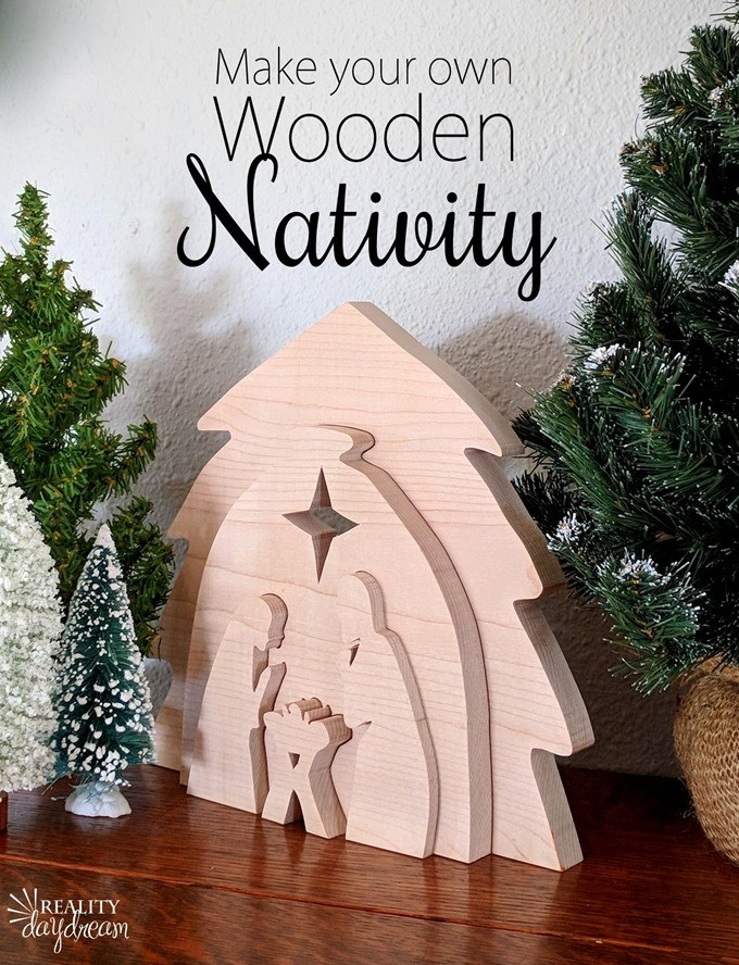 Learn how to make this DIY Wooden Nativity as a puzzle or holiday decor using your scroll saw! #Christmas {Reality Daydream}