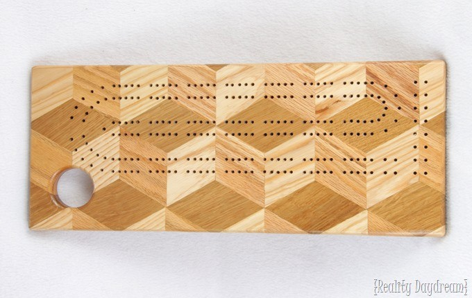 Learn how to make your own Cribbage Board with some scrap wood! {Reality Daydream}