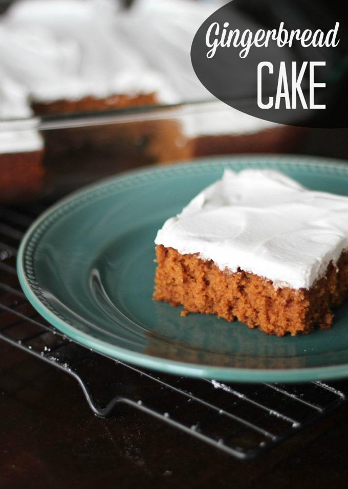 Recipe for Gingerbread Cake with frosting