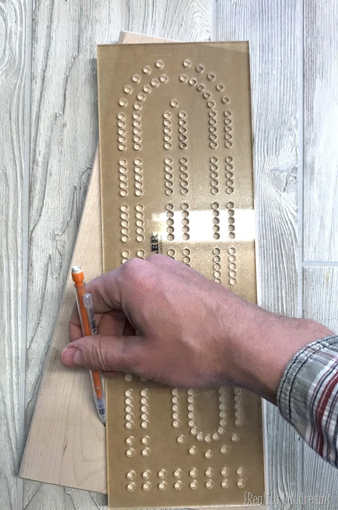 Rockler Racetrack Cribbage Template {Reality Daydream}