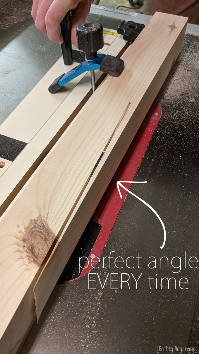 Rockler Taper Jig for making the perfectly angled woden legs for dining tables! {Reality Daydream}