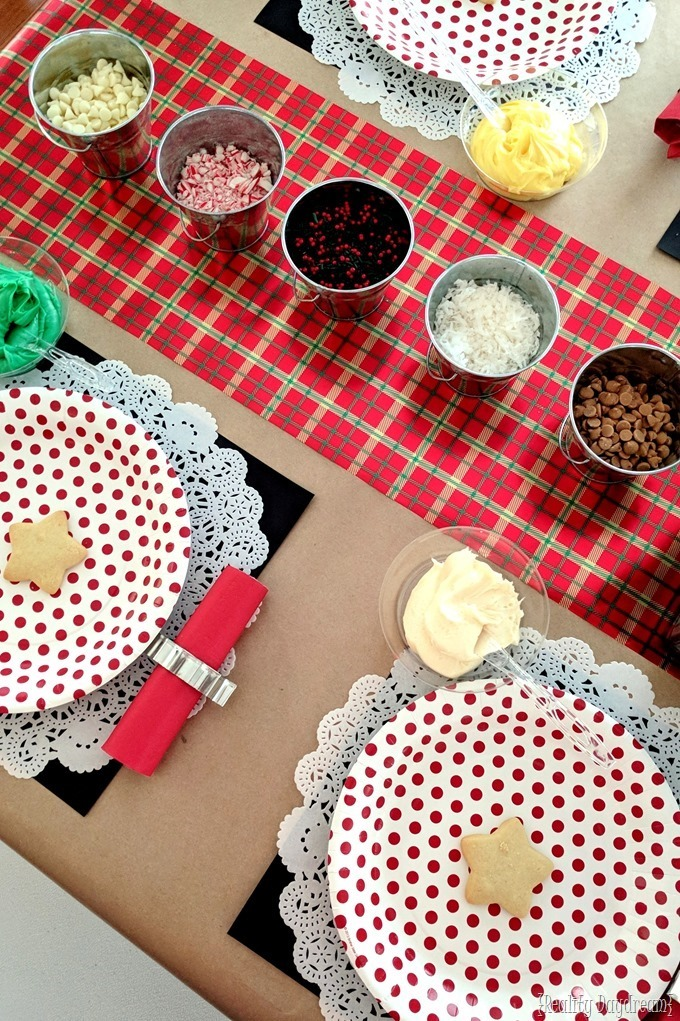 Throw a Christmas Cutout Cookie Decorating Party! {Reality Daydream}