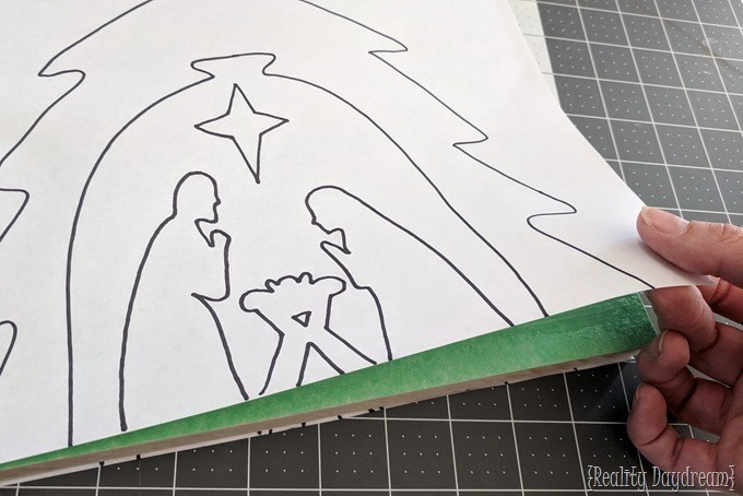 Wooden Nativity Scroll Saw Pattern {Reality Daydream}