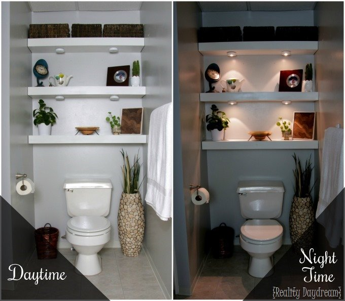 Building your own Floating Shelves for the bathroom {Reality Daydream}