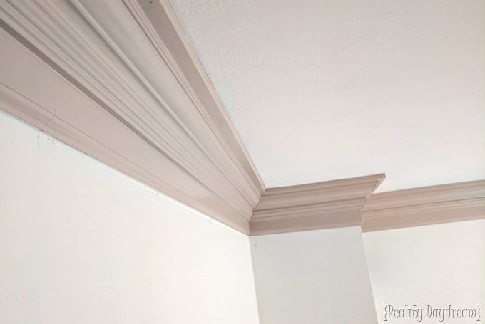 Colored trim is amazing, especially when you have chunky crown molding! {Reality Daydream}