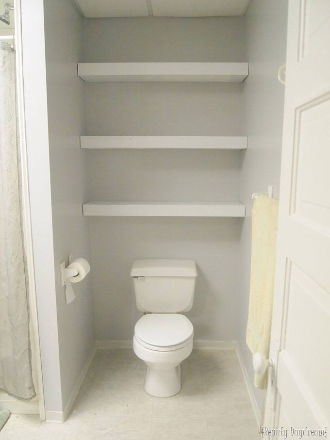Floating Shelves over Toilet {Reality Daydream}