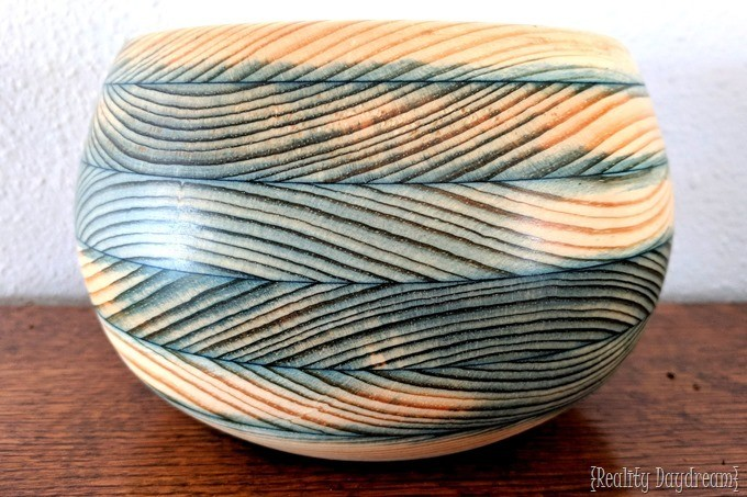 How to build your own wood turning blank and soak it in alcohol dye to make it a pretty color {Reality Daydream}