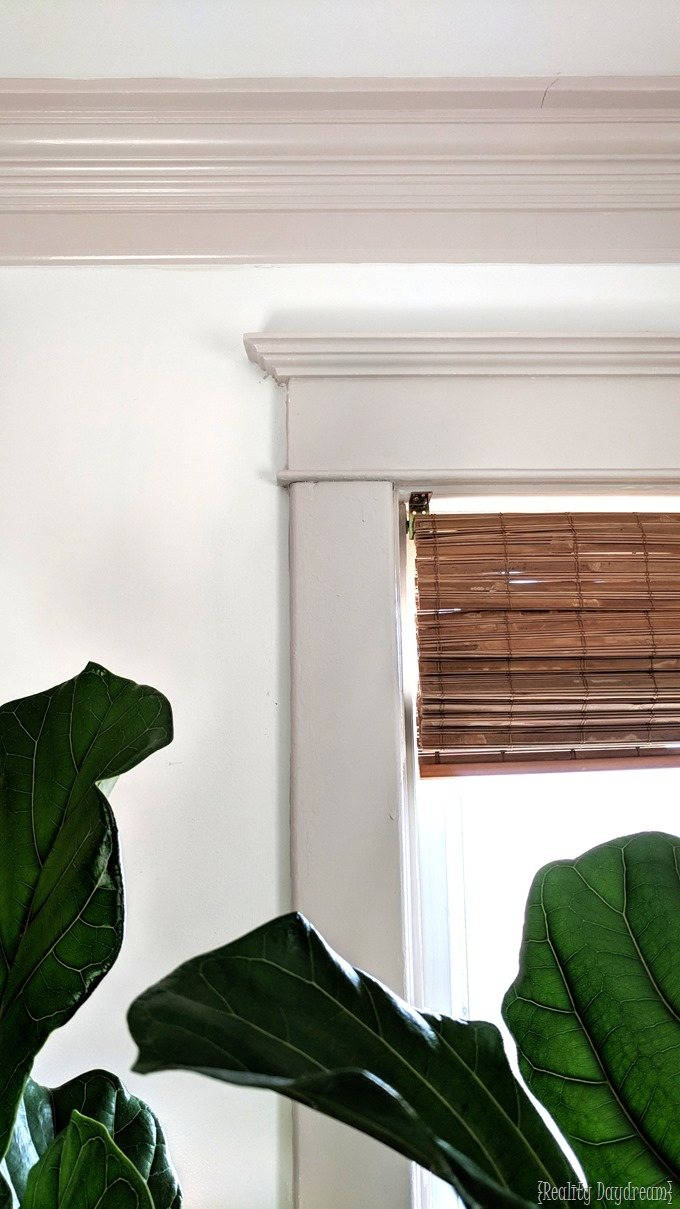 How to install chunky crown moulding and paint so you have colored trim! {Reality Daydream}