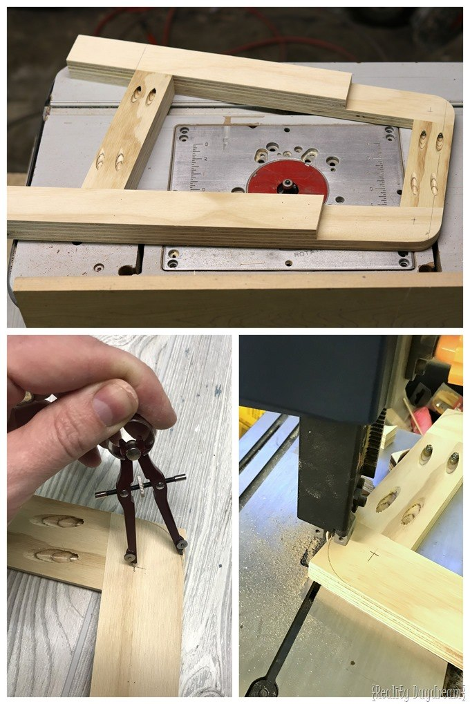Routing the edges of a toddlers desk legs {Reality Daydream}