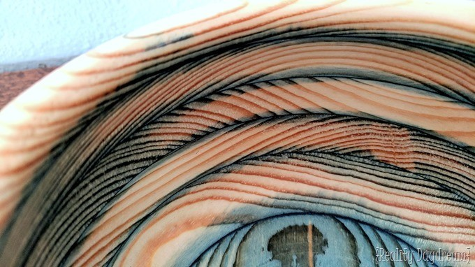 Soak your wood in alcohol dye before gluing it up into a wood turning blank and make it into a bowl! {Reality Daydream}