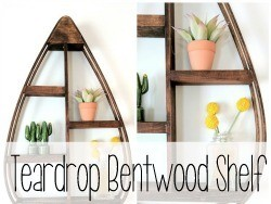Teardrop Bentwood Shelf