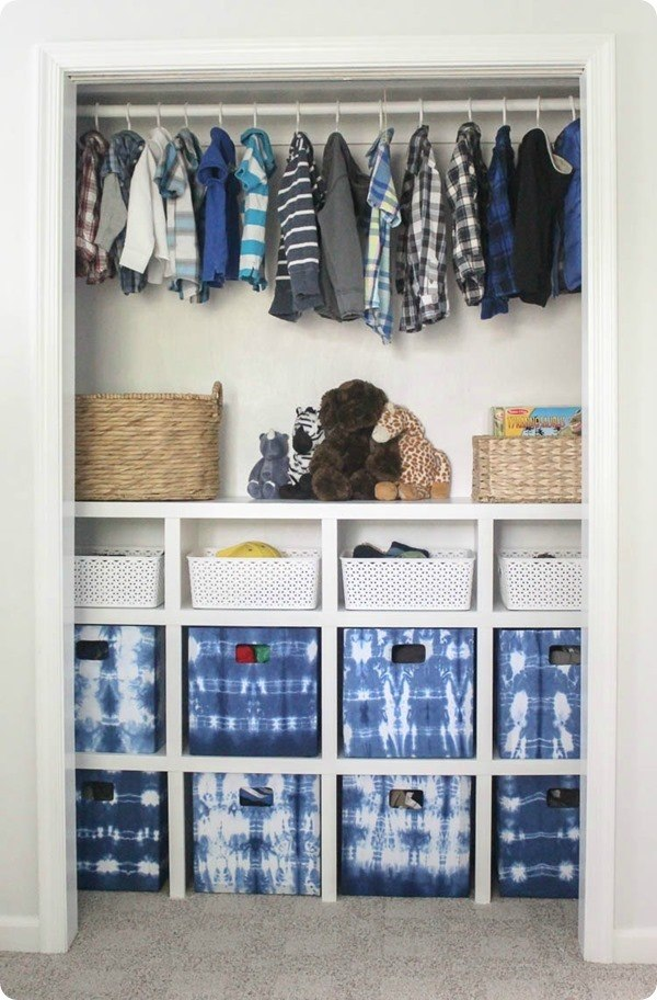 Closet Organizer Ideas - Cubbies by Lovely Etc