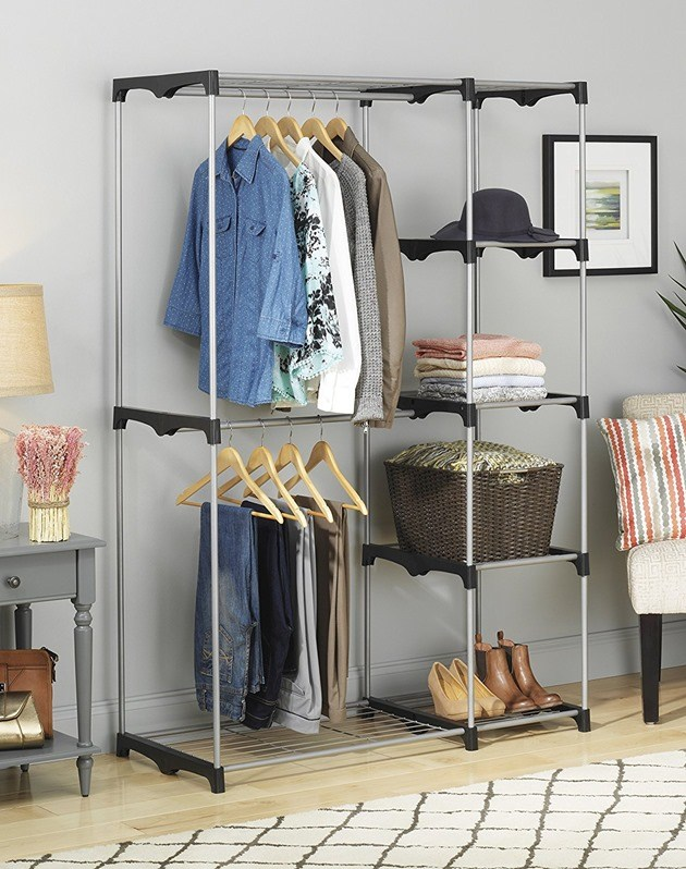 Free Standing Closet Organizer   And Lots Of Other Closet Organization  Hacks And Ideas! {