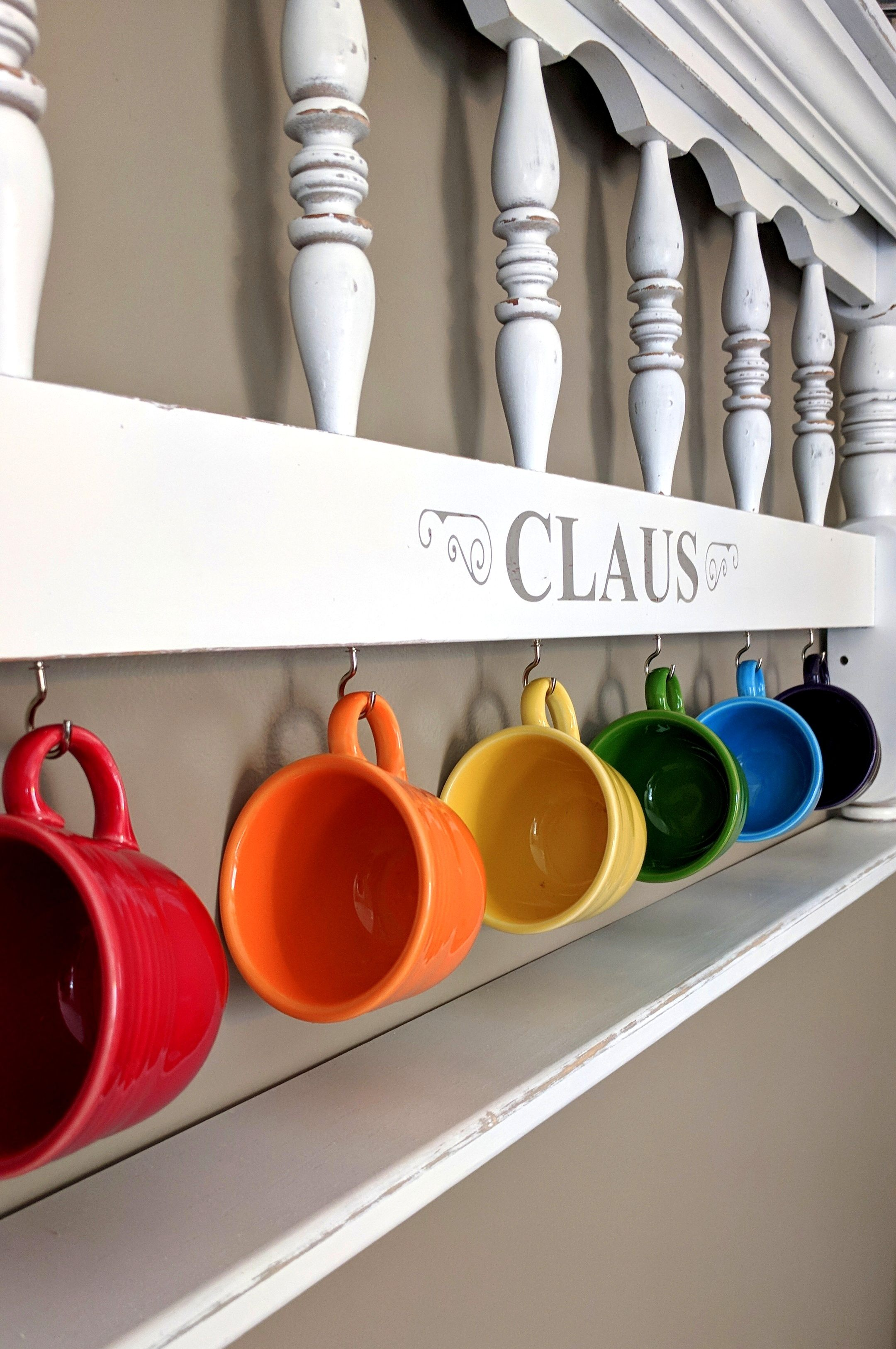 Upcycled Headboard Ideas For Fiestaware Display Or Teacup Rack