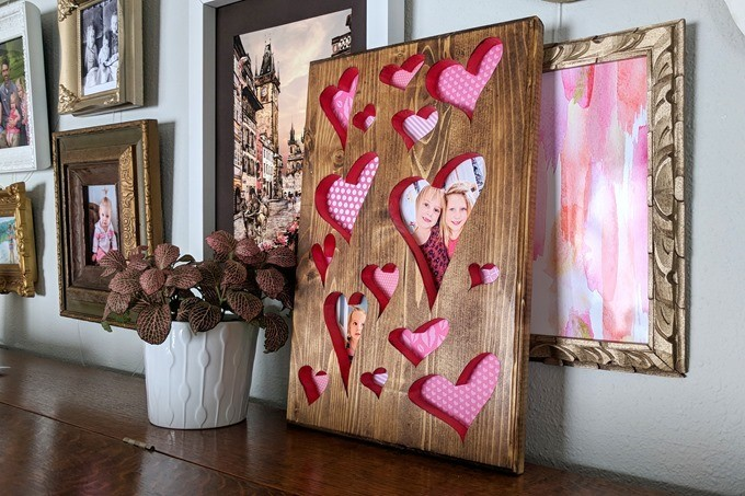 Valentine's Heart Plaque made with a scroll saw {Reality Daydream}
