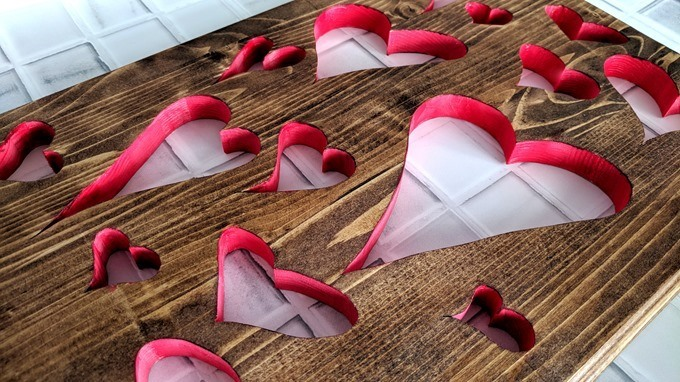 Valentine's hearts cut out of wood with a scroll saw! {Reality Daydream}